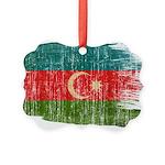 Azerbaijan Flag Picture Ornament
