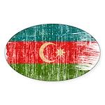 Azerbaijan Flag Sticker (Oval)