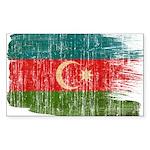 Azerbaijan Flag Sticker (Rectangle)
