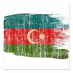 Azerbaijan Flag Square Car Magnet 3