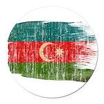Azerbaijan Flag Round Car Magnet
