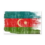 Azerbaijan Flag Rectangle Car Magnet