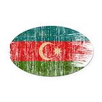 Azerbaijan Flag Oval Car Magnet