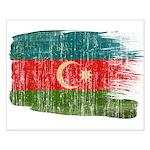 Azerbaijan Flag Small Poster