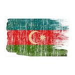 Azerbaijan Flag 38.5 x 24.5 Wall Peel