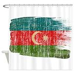 Azerbaijan Flag Shower Curtain