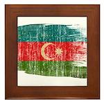Azerbaijan Flag Framed Tile