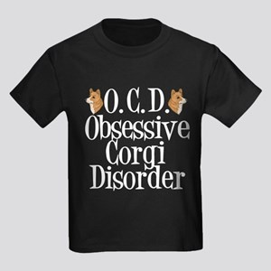 Corgi Obsessed Kids Dark T-Shirt