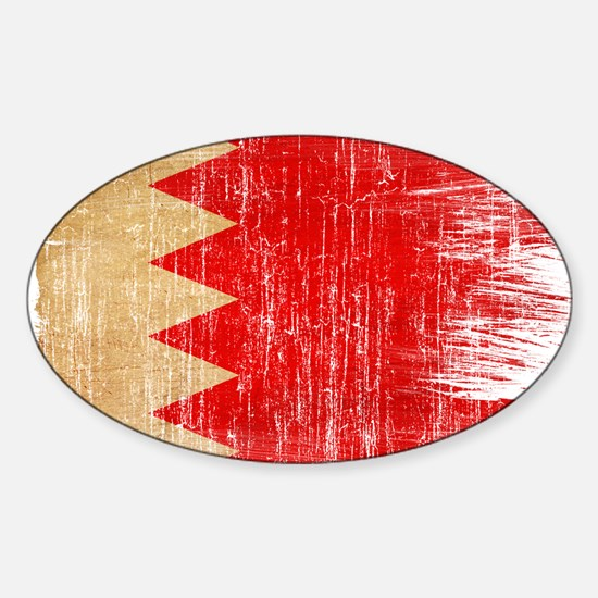 Bahrain Flag Sticker (Oval)