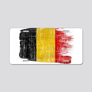 Belgium Flag Aluminum License Plate