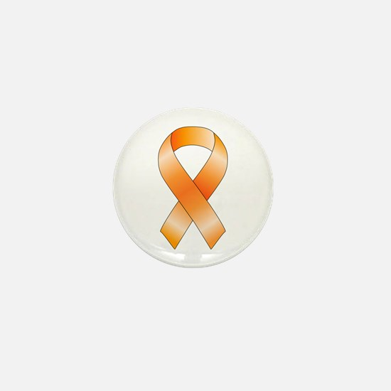 Orange Ribbon Mini Button