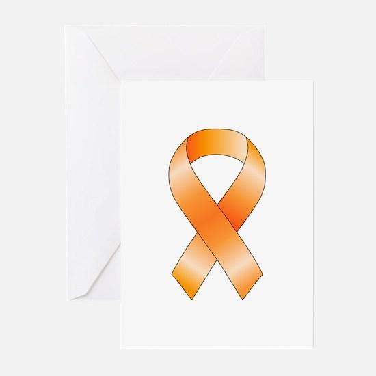 Orange Ribbon Greeting Cards (Pk of 20)