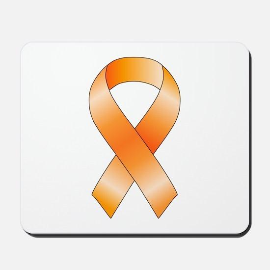 Orange Ribbon Mousepad