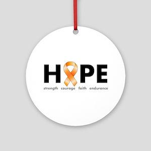 Orange Ribbon Hope Products Ornament (Round)