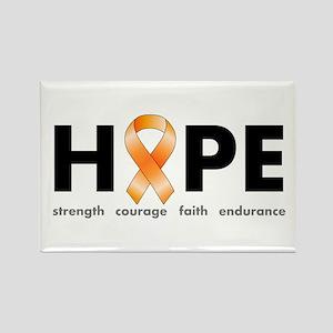 Orange Ribbon Hope Products Rectangle Magnet