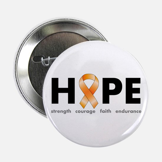 """Orange Ribbon Hope Products.png 2.25"""" Button"""