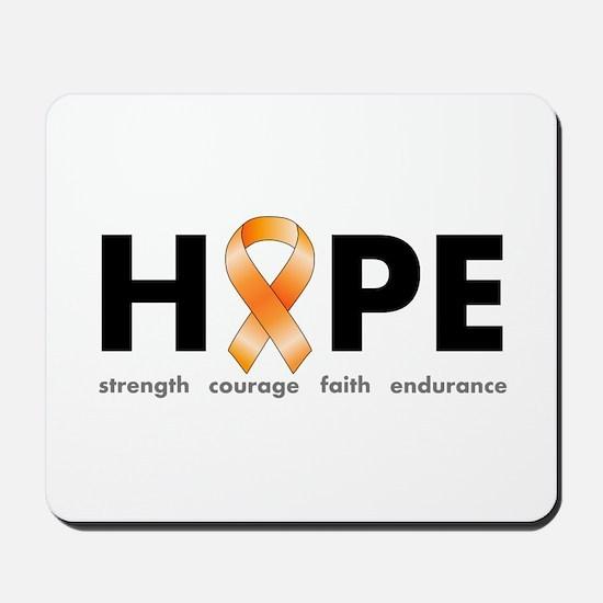Orange Ribbon Hope Products.png Mousepad