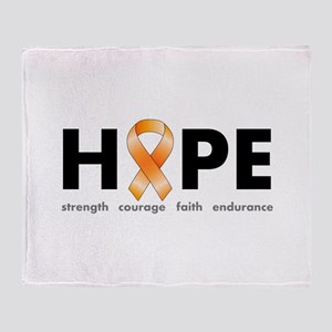 Orange Ribbon Hope Products Throw Blanket