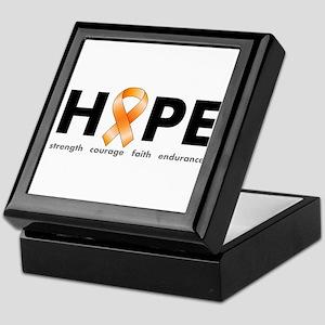 Orange Ribbon Hope Products Keepsake Box