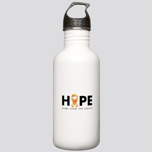 Orange Ribbon Hope Products Stainless Water Bo
