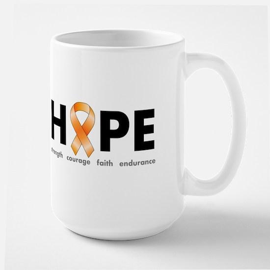 Orange Ribbon Hope Products.png Large Mug