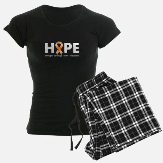 Orange Ribbon Hope Dark.png Pajamas