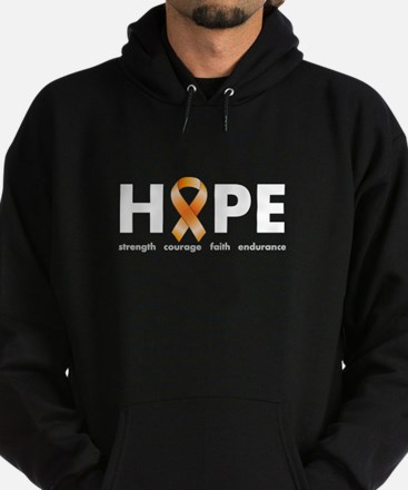 Orange Ribbon Hope Dark.png Hoodie (dark)
