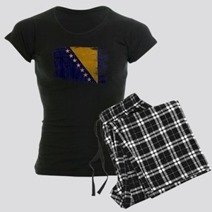 Bosnia and Herzegovina Flag Women's Dark Pajamas