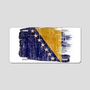 Bosnia and Herzegovina Flag Aluminum License Plate