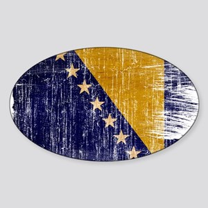 Bosnia and Herzegovina Flag Sticker (Oval)