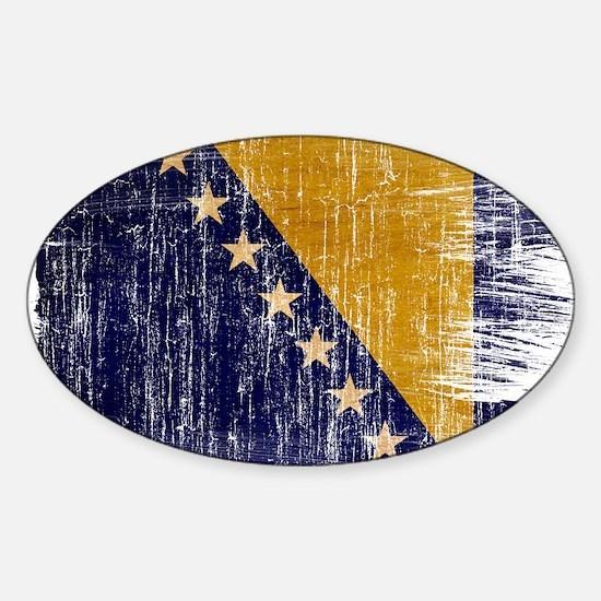 Bosnia and Herzegovina Flag Sticker (Oval)