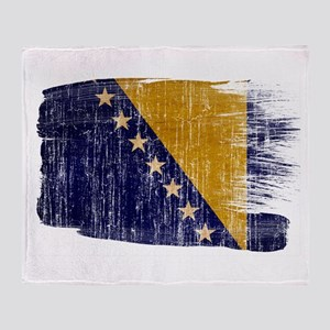 Bosnia and Herzegovina Flag Throw Blanket