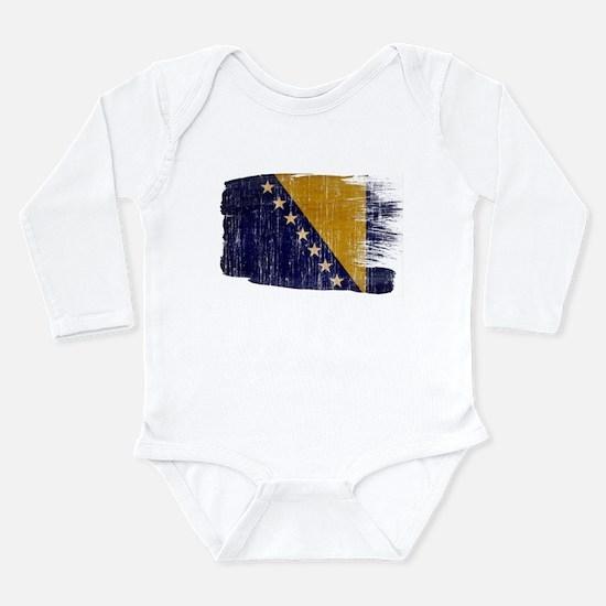 Bosnia and Herzegovina Flag Long Sleeve Infant Bod