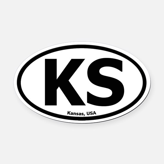 Kansas Oval Car Magnet