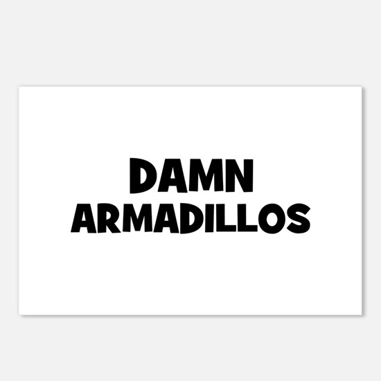 Damn Armadillos Postcards (Package of 8)