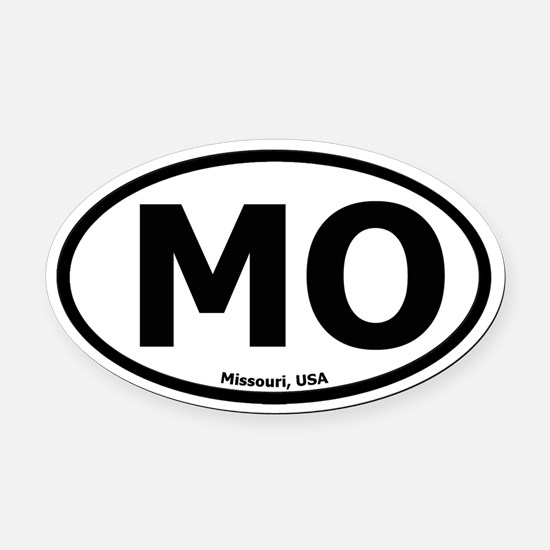 Missouri Oval Car Magnet