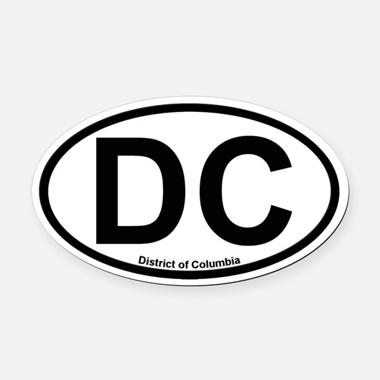District of Columbia Oval Car Magnet