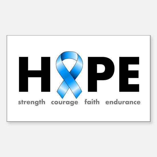 Blue Ribbon Hope Sticker (Rectangle)