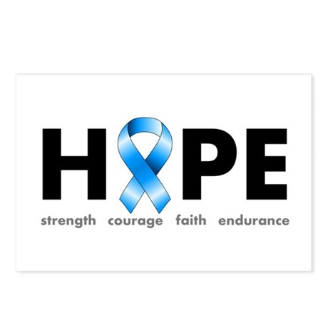 Blue Ribbon Hope Postcards (Package of 8)