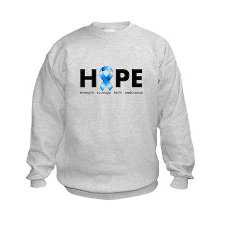 Blue Ribbon Hope Kids Sweatshirt