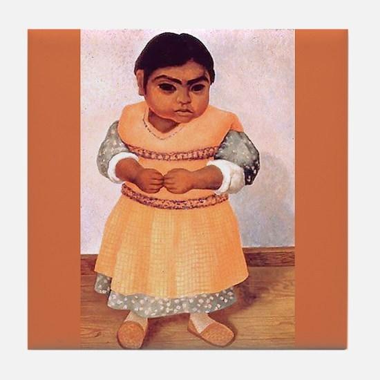 Diego Rivera Nina Parada Art Tile Coaster