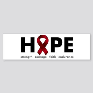 Burgundy Ribbon Hope Sticker (Bumper)