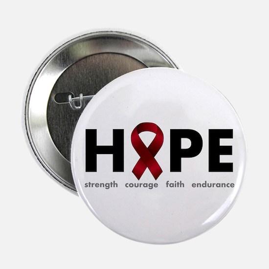 "Burgundy Ribbon Hope 2.25"" Button"