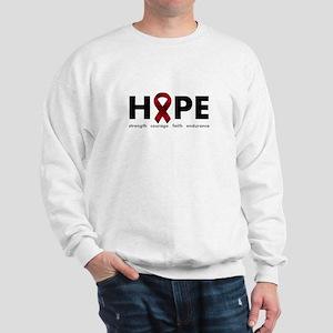 Burgundy Ribbon Hope Sweatshirt