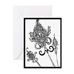 Flower Scepters #1 Greeting Card