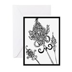 Flower Scepters #1 Greeting Cards (Pk of 10)