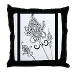 Flower Scepters #1 Throw Pillow