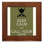 Keep_Calm_and_Call_your_Hits Framed Tile