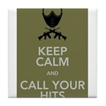 Keep_Calm_and_Call_your_Hits Tile Coaster