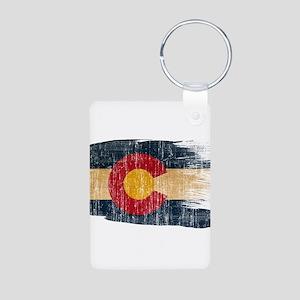 Colorado Flag Aluminum Photo Keychain